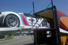 Porsche 918 Spyder loading at Los Angeles LAX Airport