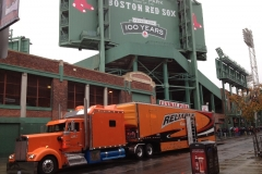 Delivering the MVP Silverado to Fenway Park.