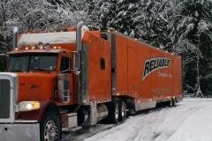 Reliable Carriers Truck in Snow Christmas 2014