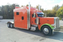 Newest truck in the fleet. Owner/Operator Mr. Chuck Sullivan's new 2013 Peterbilt 140