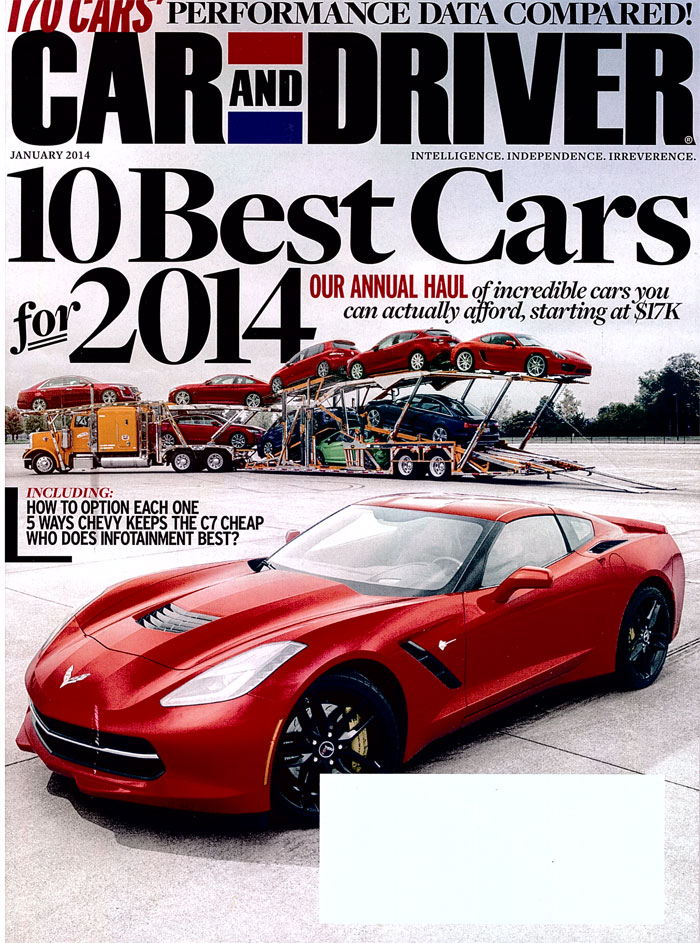 Reliable Carriers Hauls Car & Driver 10 Best Cars for 2014 ...